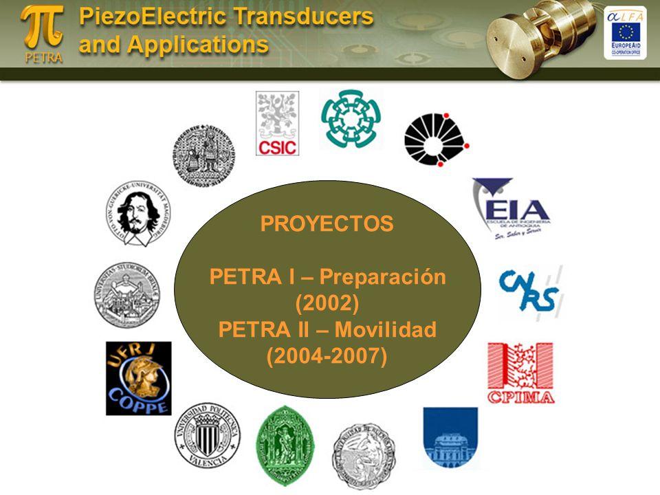 PROYECTOS PETRA I – Preparación (2002) PETRA II – Movilidad (2004-2007)