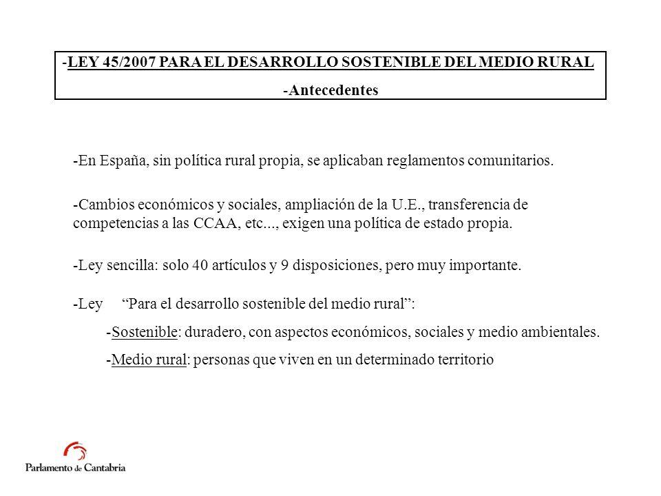 -En España, sin política rural propia, se aplicaban reglamentos comunitarios.