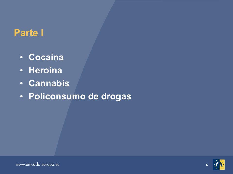 6 Parte I Cocaína Heroína Cannabis Policonsumo de drogas