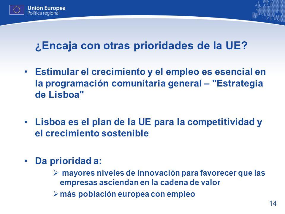 15 Estimular el crecimiento y el empleo: ¿pone esto en práctica la política regional.