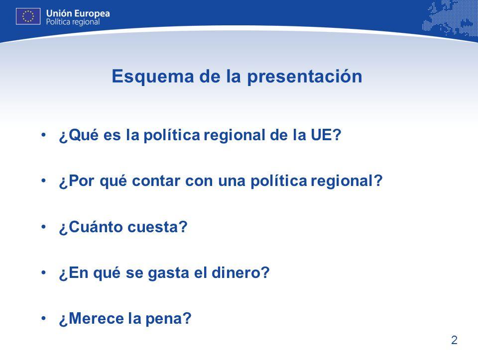 3 ¿Qué es la política regional de la UE.