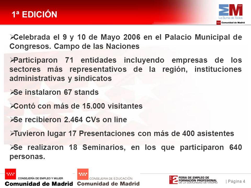 | Página 4 1ª EDICIÓN Celebrada el 9 y 10 de Mayo 2006 en el Palacio Municipal de Congresos.