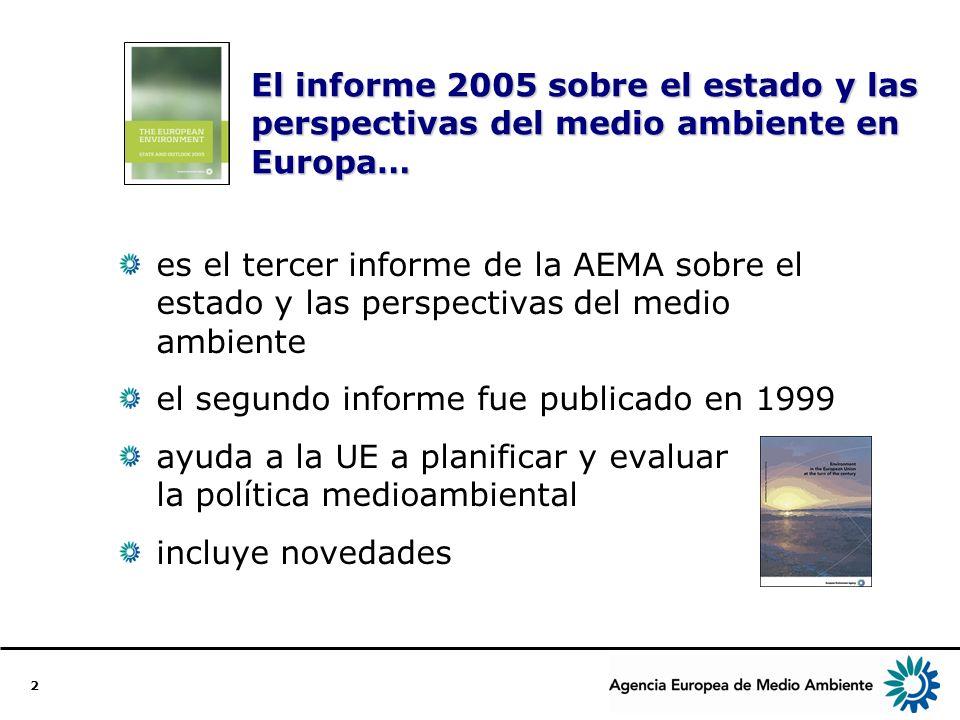 3 Estructura del informe El informe de 2005 incluye… una evaluación integral del medio ambiente en Europa un conjunto de indicadores clave un análisis por países bibliografía