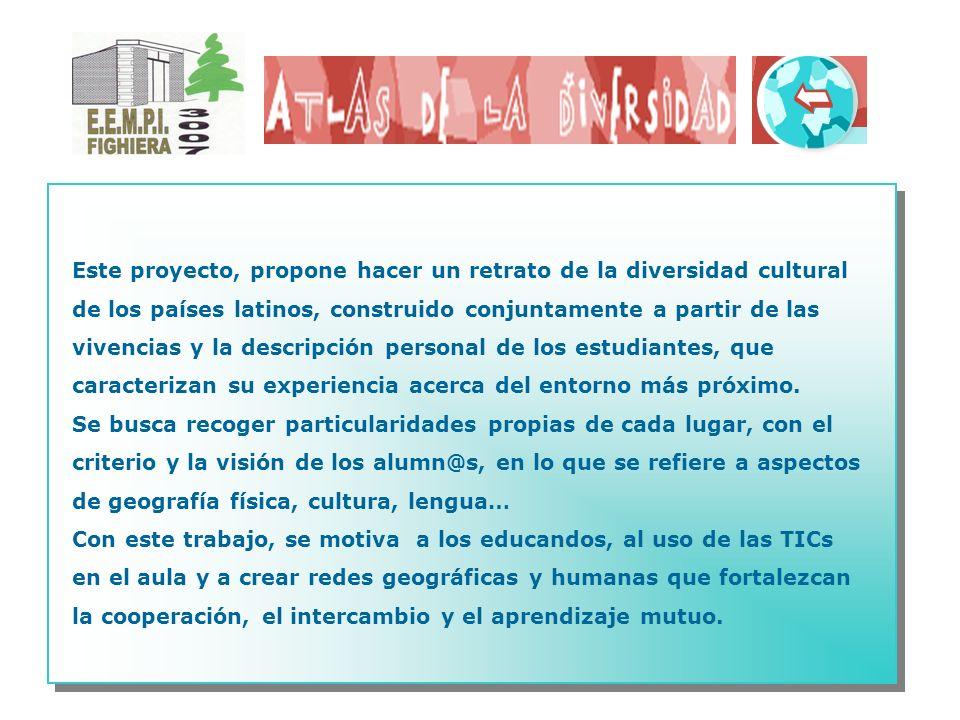 Este proyecto, propone hacer un retrato de la diversidad cultural de los países latinos, construido conjuntamente a partir de las vivencias y la descr