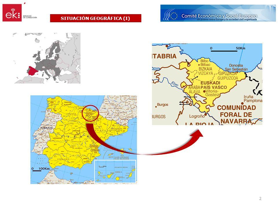 Infraestructuras en Euskadi SITUACIÓN GEOGRÁFICA (y II) 3