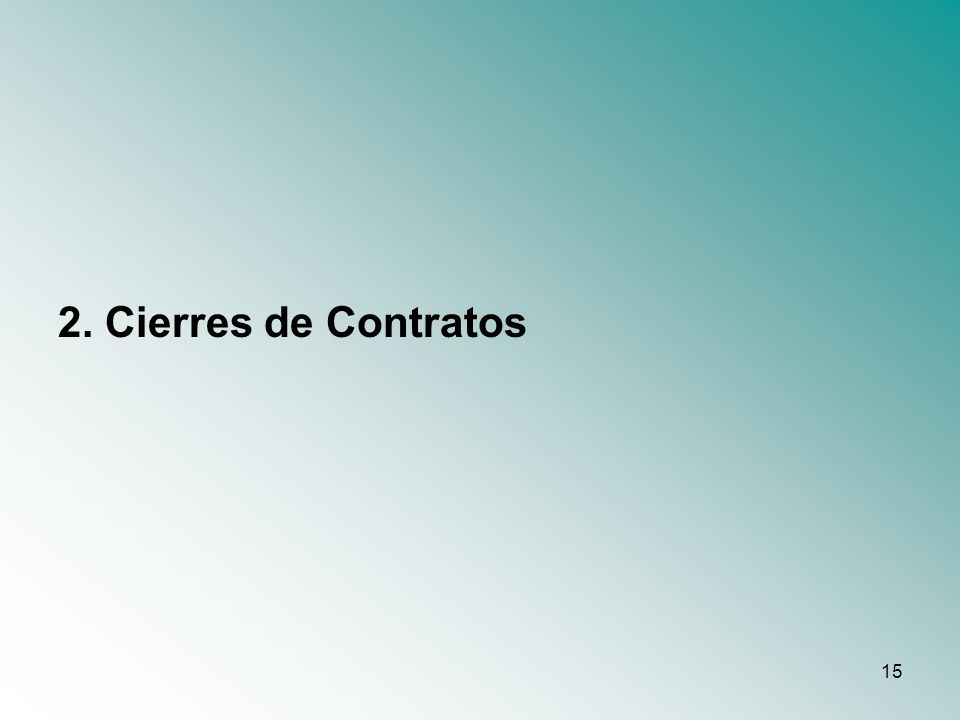 15 2. Cierres de Contratos