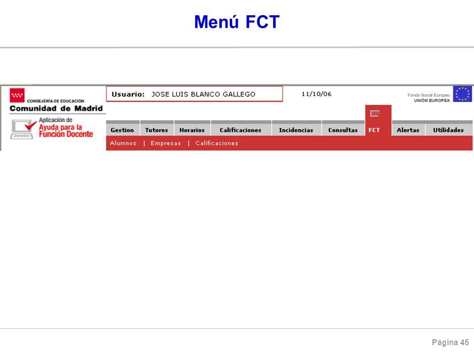 Página 45 Menú FCT