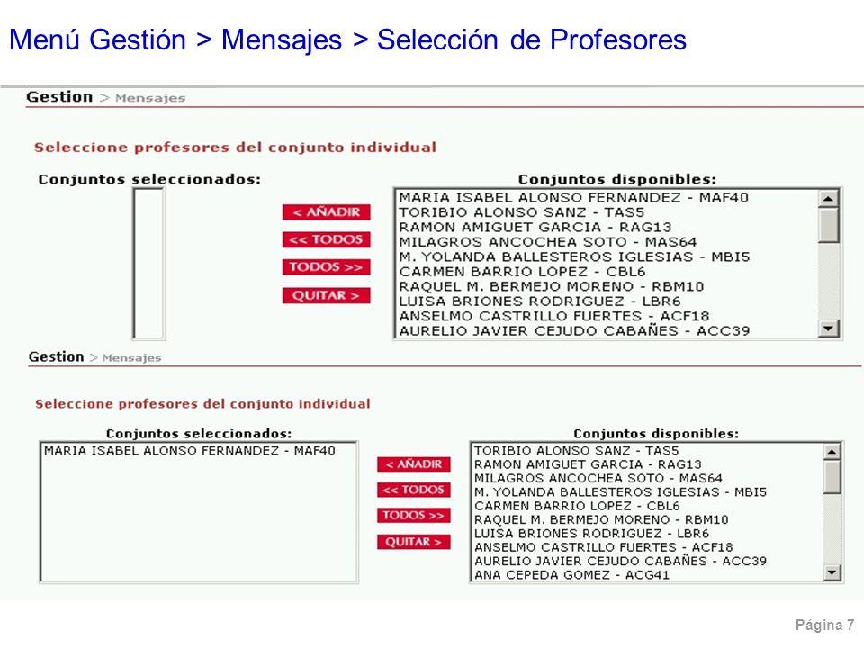 Página 38 Menú Consultas > Listado de Faltas > Por Grupo (Detallado)
