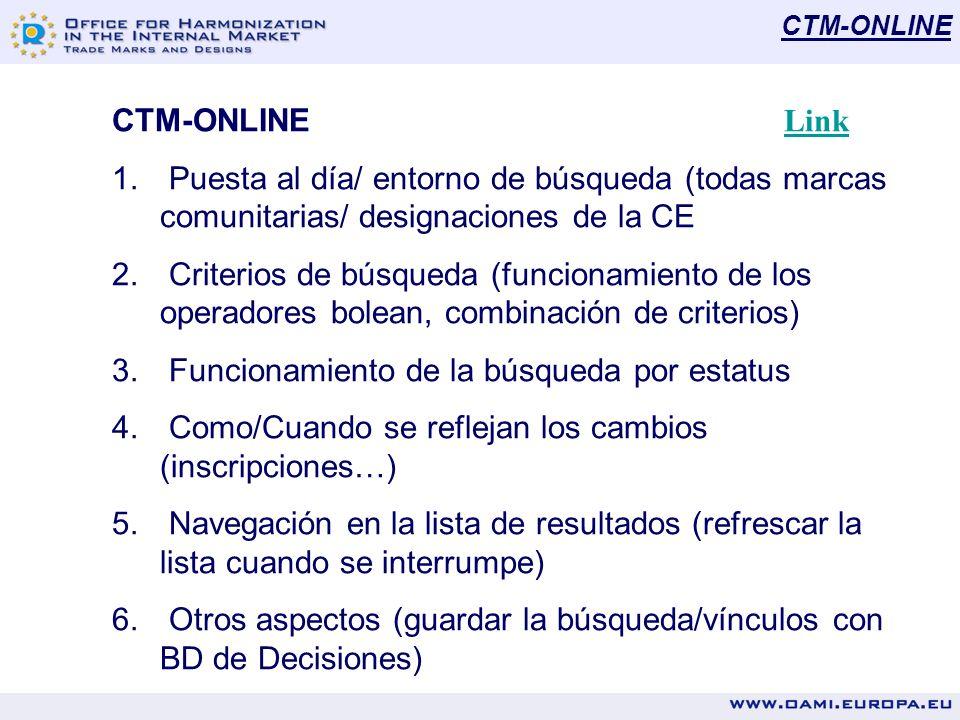 RCD-ONLINE RCD-ONLINE Link Link 1.Puesta al día/ entorno de búsqueda (todos DMC publicados) 2.