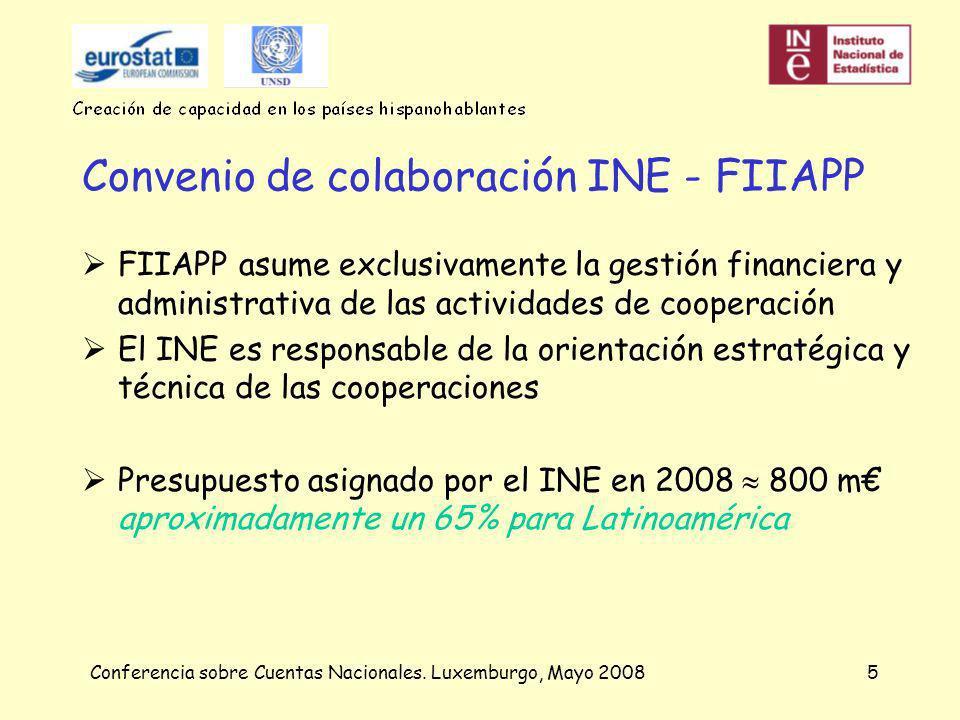 Conferencia sobre Cuentas Nacionales. Luxemburgo, Mayo 20086