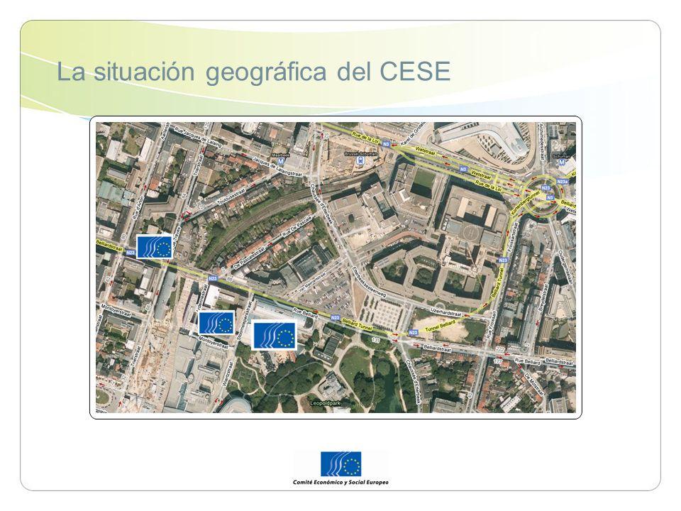 La situación geográfica del CESE