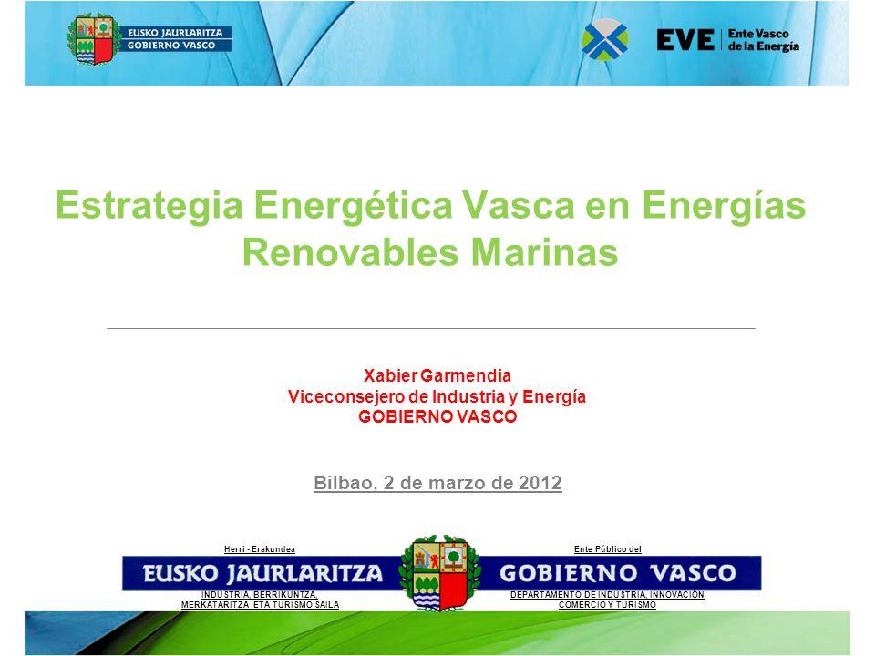 Xabier Garmendia Viceconsejero de Industria y Energía GOBIERNO VASCO Ente Público del DEPARTAMENTO DE INDUSTRIA, INNOVACIÓN COMERCIO Y TURISMO Herri -