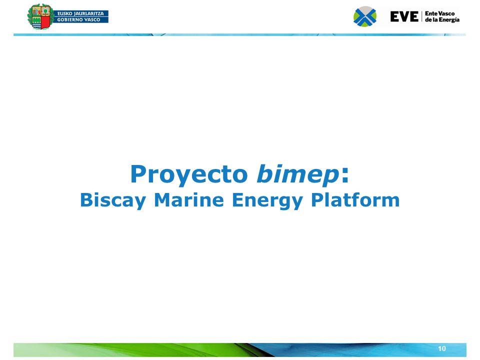 Unidad Editoral Conferencias y Formaciónwww.conferenciasyformacion.com 10 Proyecto bimep : Biscay Marine Energy Platform