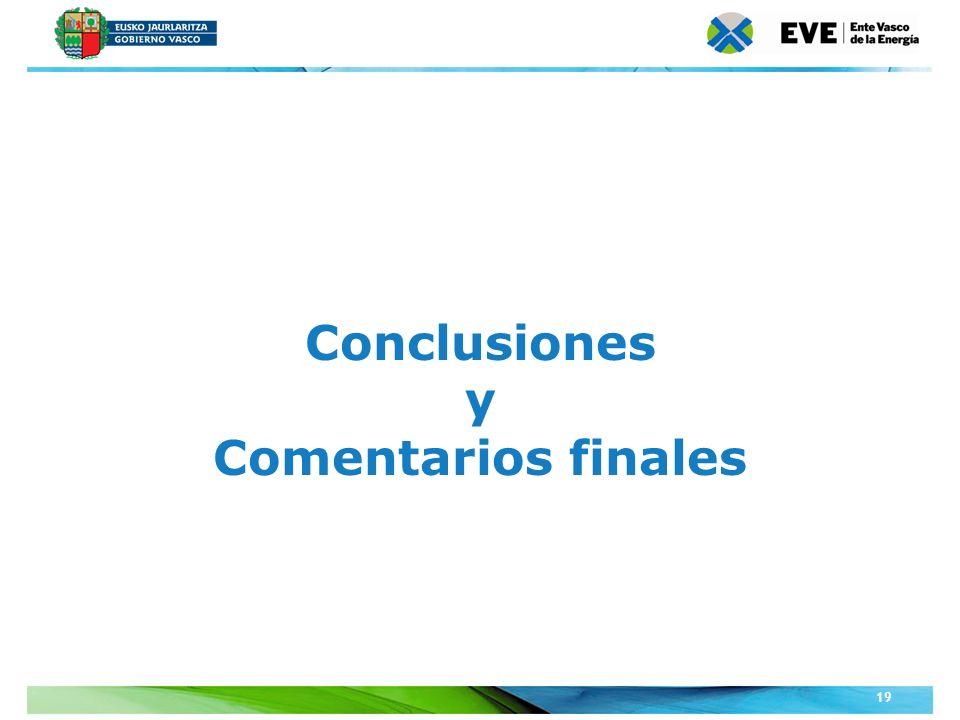 Unidad Editoral Conferencias y Formaciónwww.conferenciasyformacion.com 19 Conclusiones y Comentarios finales