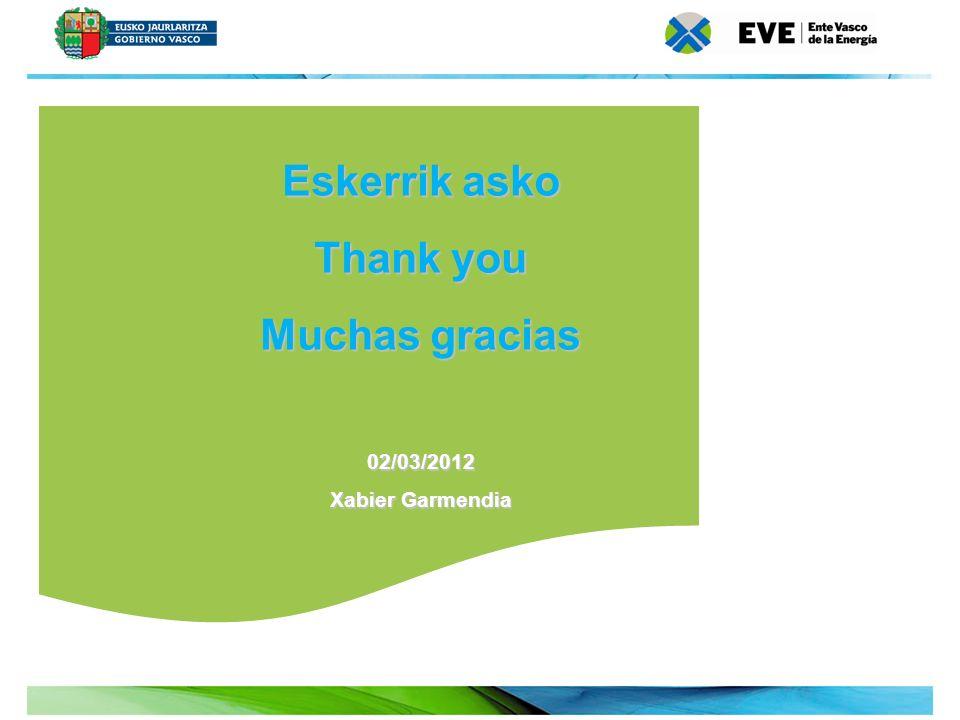 22 Eskerrik asko Thank you Muchas gracias 02/03/2012 Xabier Garmendia