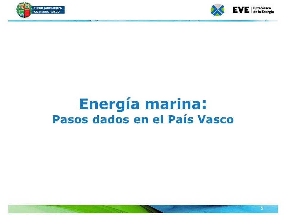 Unidad Editoral Conferencias y Formaciónwww.conferenciasyformacion.com 5 Energía marina : Pasos dados en el País Vasco