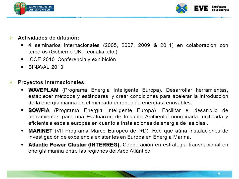 Unidad Editoral Conferencias y Formaciónwww.conferenciasyformacion.com 17 Biscay Marine Energy Platform, S.A.