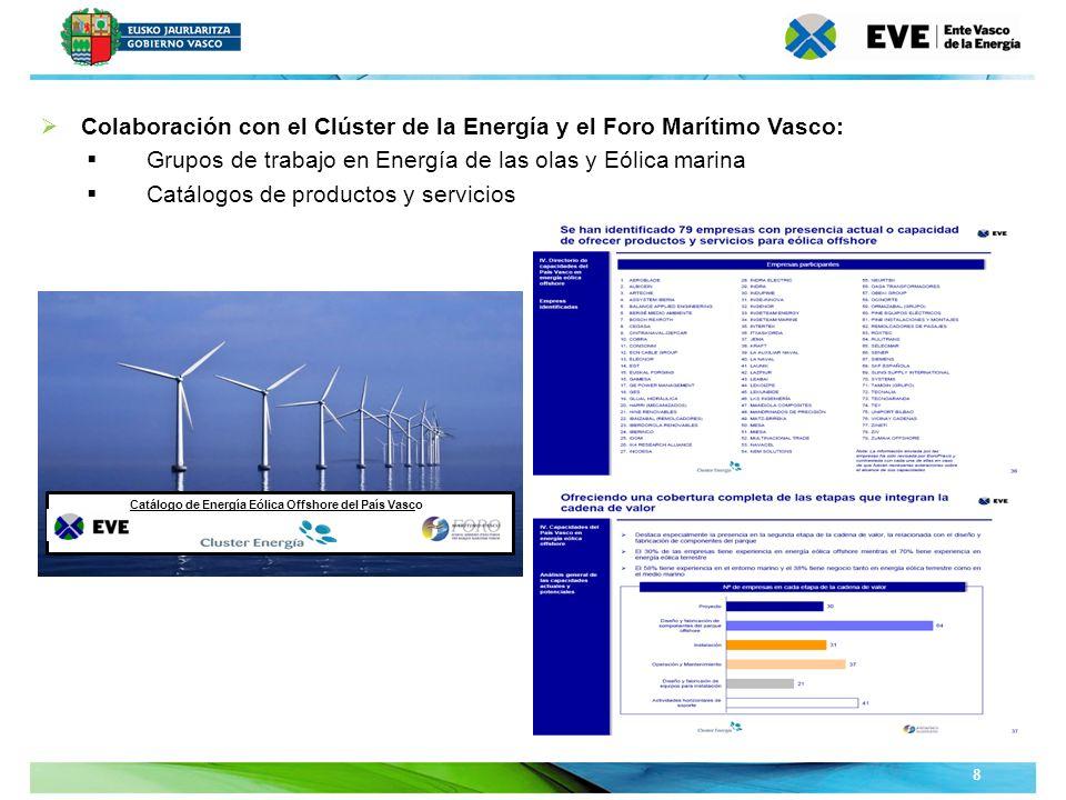 Unidad Editoral Conferencias y Formaciónwww.conferenciasyformacion.com 8 Colaboración con el Clúster de la Energía y el Foro Marítimo Vasco: Grupos de