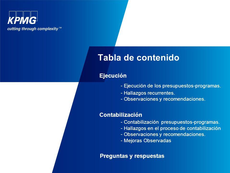 Tabla de contenido Objetivos Definiciones Planificación -Los presupuestos programas -Planificación presupuestaria - Disposiciones Técnicas y Administr