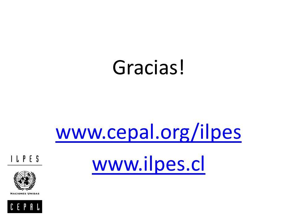 Gracias! www.cepal.org/ilpes www.ilpes.cl