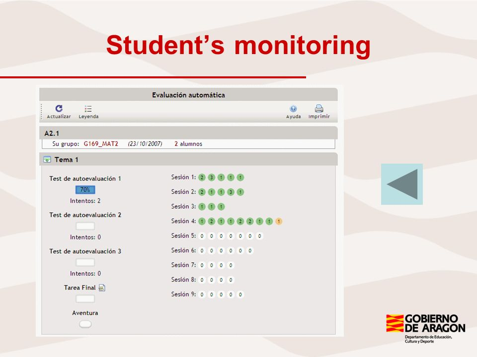 Students monitoring