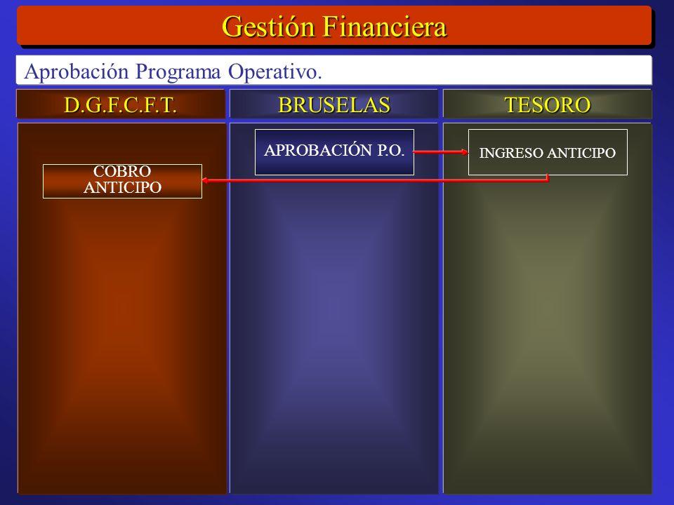 D.G.F.C.F.T.BRUSELASTESORO Gestión Financiera Aprobación Programa Operativo.