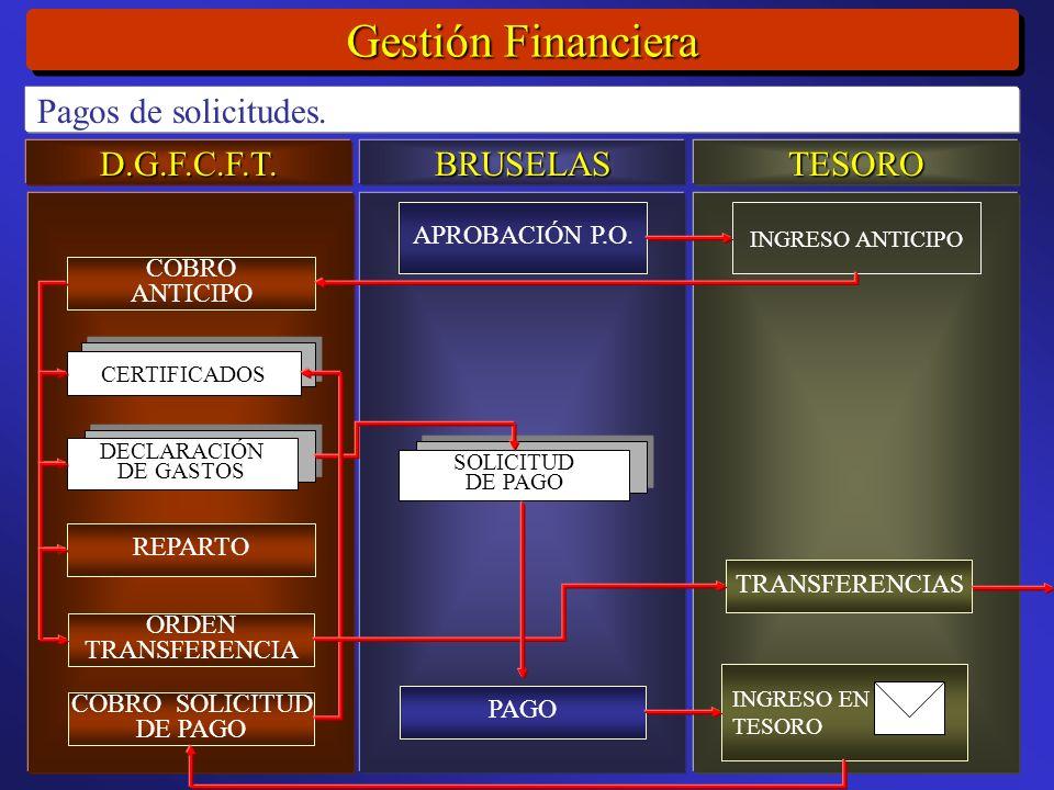 D.G.F.C.F.T.BRUSELASTESORO Gestión Financiera Pagos de solicitudes.