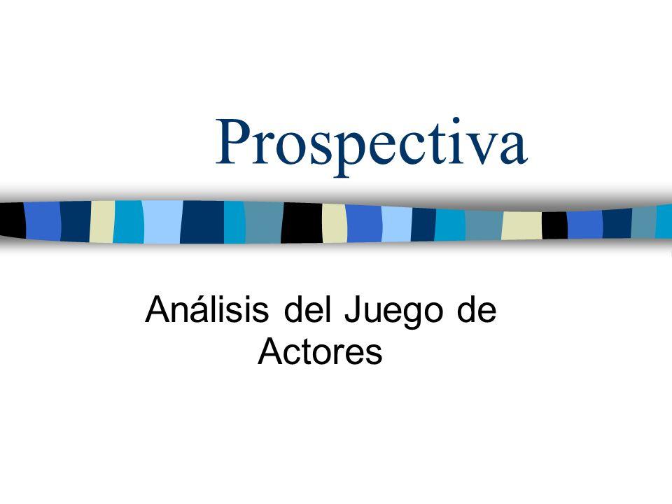 Prospectiva Análisis del Juego de Actores