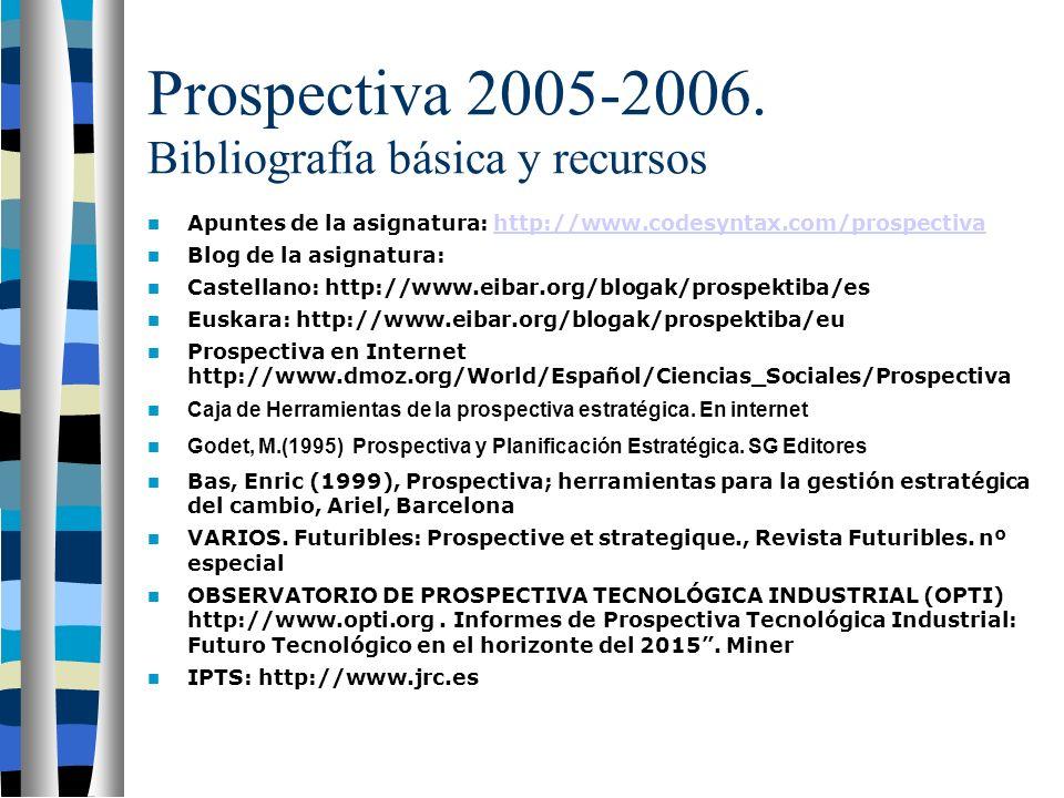 Prospectiva 2005-2006.