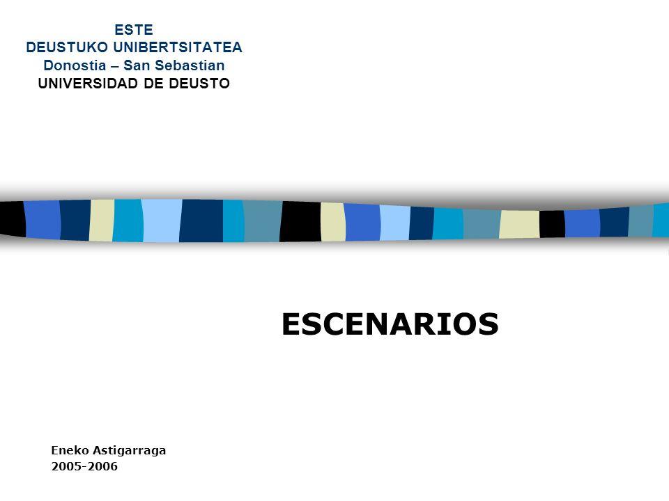 ESTE DEUSTUKO UNIBERTSITATEA Donostia – San Sebastian UNIVERSIDAD DE DEUSTO ESCENARIOS Eneko Astigarraga 2005-2006