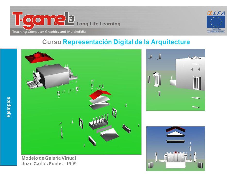 Ejemplos Curso Representación Digital de la Arquitectura Modelo de Galería Virtual Juan Carlos Fuchs - 1999