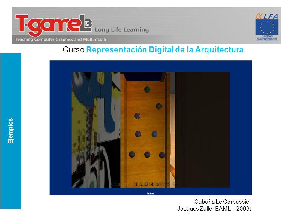 Ejemplos Curso Representación Digital de la Arquitectura Cabaña Le Corbussier Jacques Zoller EAML – 2003t