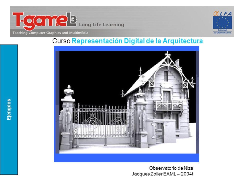 Curso Representación Digital de la Arquitectura Ejemplos Observatorio de Niza Jacques Zoller EAML – 2004t