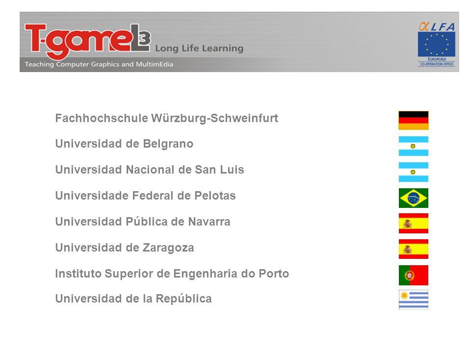 Fachhochschule Würzburg-Schweinfurt Universidad de Belgrano Universidad Nacional de San Luis Universidade Federal de Pelotas Universidad Pública de Na