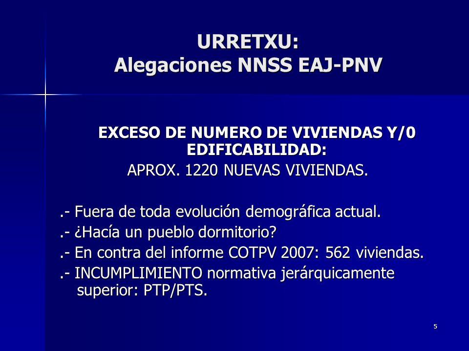 5 EXCESO DE NUMERO DE VIVIENDAS Y/0 EDIFICABILIDAD: APROX.