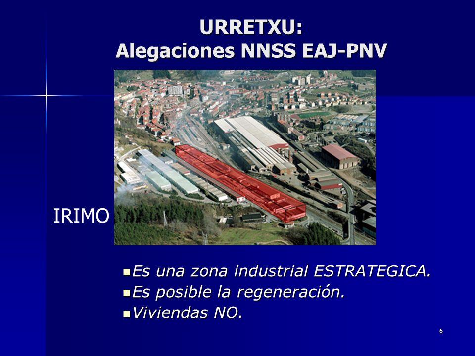 6 Es una zona industrial ESTRATEGICA. Es una zona industrial ESTRATEGICA. Es posible la regeneración. Es posible la regeneración. Viviendas NO. Vivien