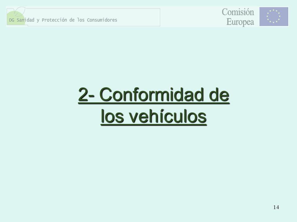 14 2- Conformidad de los vehículos