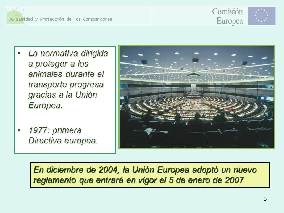 3 La normativa dirigida a proteger a los animales durante el transporte progresa gracias a la Unión Europea.La normativa dirigida a proteger a los ani