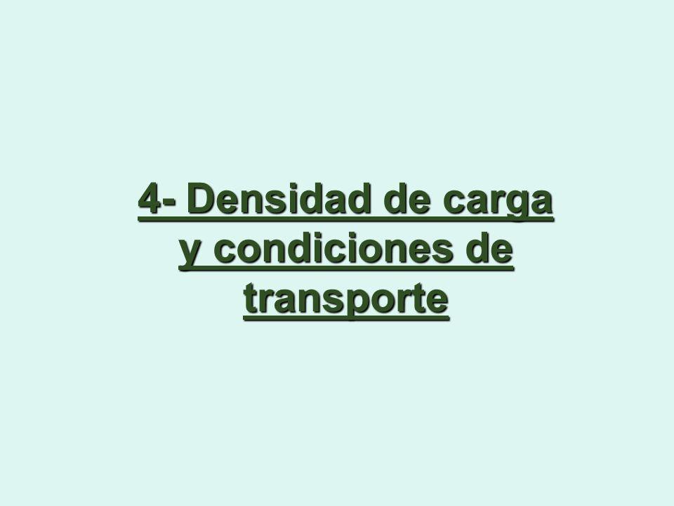 4- Densidad de carga y condiciones de transporte