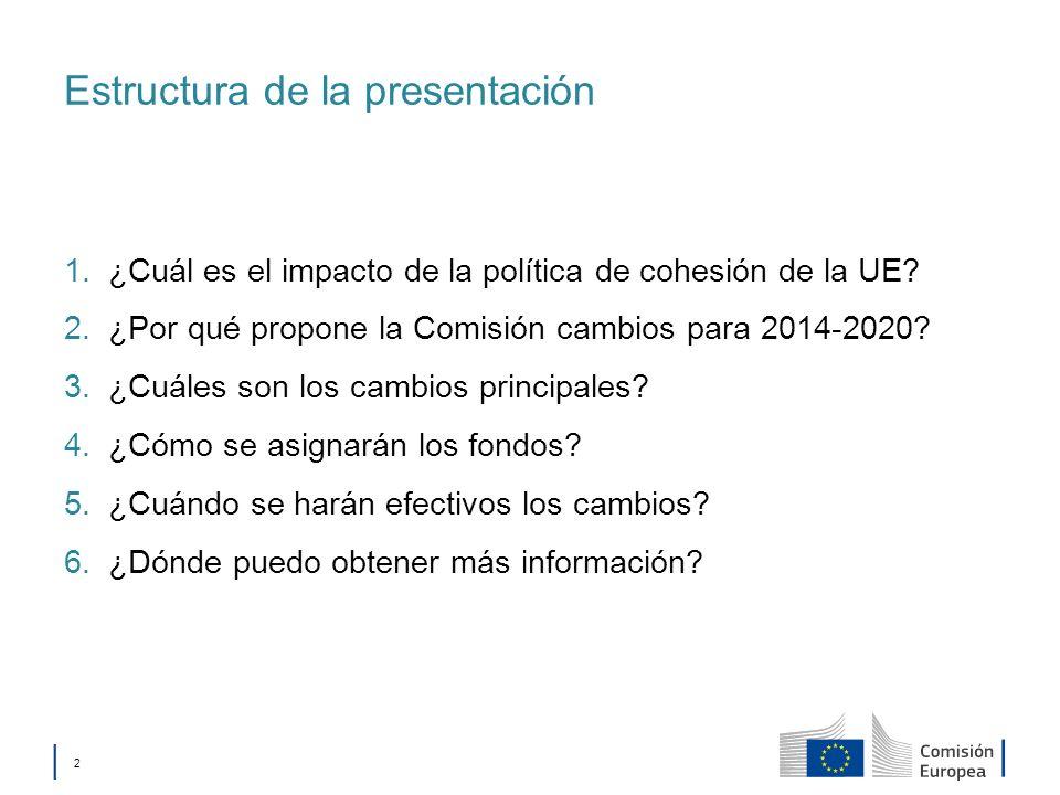 Política de cohesión 1. ¿Cuál es el impacto de la política de cohesión de la UE?
