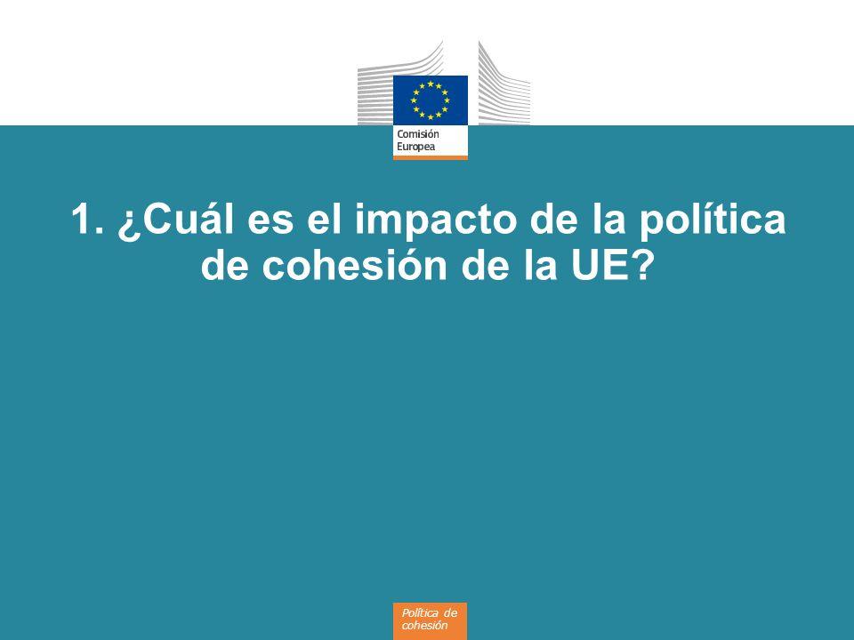 4 La Política de cohesión de la UE invierte en...