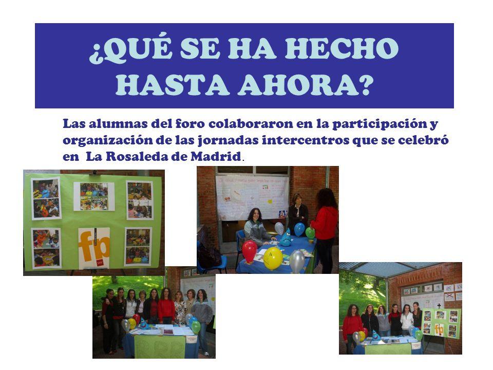Las alumnas del foro participaron en el encuentro de San Lorenzo de El Escorial, donde se dieron cita todos los centros de secundaria que participan en el proyecto.