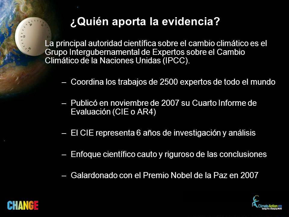 ¿Quién aporta la evidencia.
