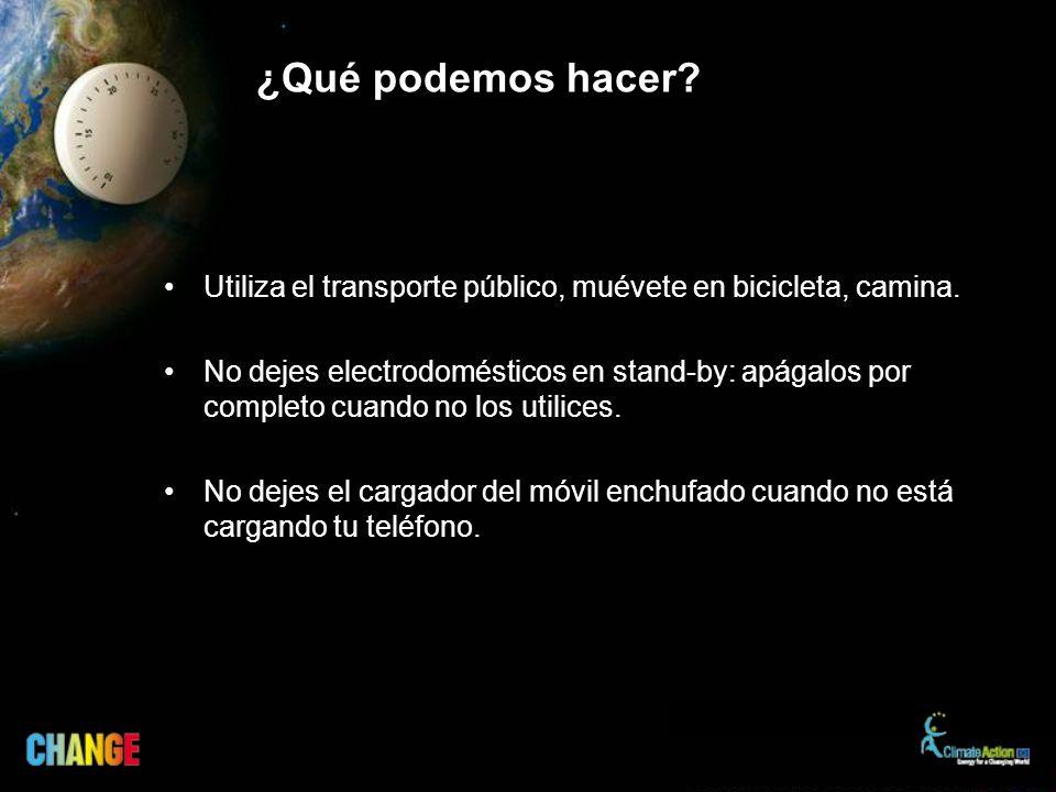 ¿Qué podemos hacer.Utiliza el transporte público, muévete en bicicleta, camina.