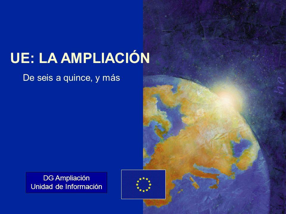 ENLARGEMENT DG 1 UE: LA AMPLIACIÓN DG Ampliación Unidad de Información De seis a quince, y más