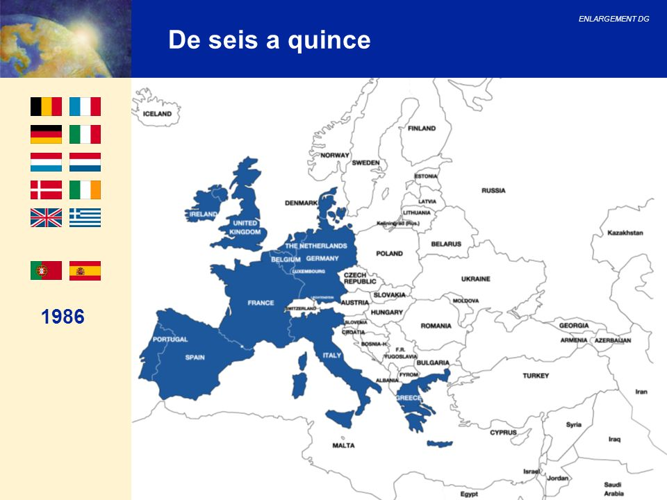 ENLARGEMENT DG 47 Cuestiones financieras (II) Conclusiones del Consejo Europeo de Copenhage Políticas internas: 2.6 billones de de fondos adicionales disponibles para los nuevos Estados Miembros para participar en programas de las políticas internas; Creación de una nueva facilidad para facilitar medidas transitorias en el àmbito Schengen (850 millones de ); 380 millones de para medidas transitorias en el ámbito del fortalecimiento institucional en los nuevos Estados miembros; 105 millones de para actividades en el àmbito de la seguridad nuclear en Lituania y Eslovaquia.