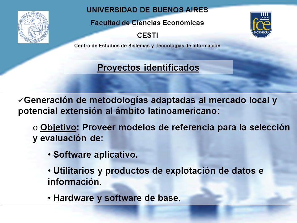 UNIVERSIDAD DE BUENOS AIRES Facultad de Ciencias Económicas CESTI Centro de Estudios de Sistemas y Tecnologías de Información Generación de metodologí