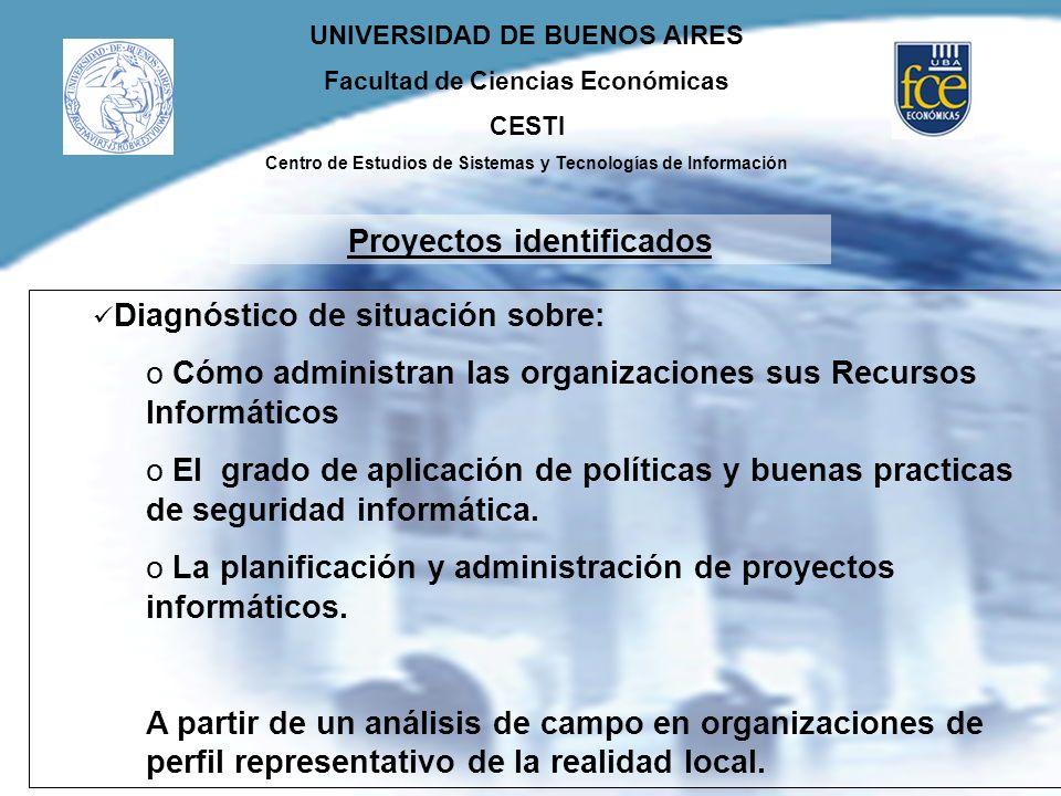 UNIVERSIDAD DE BUENOS AIRES Facultad de Ciencias Económicas CESTI Centro de Estudios de Sistemas y Tecnologías de Información Diagnóstico de situación