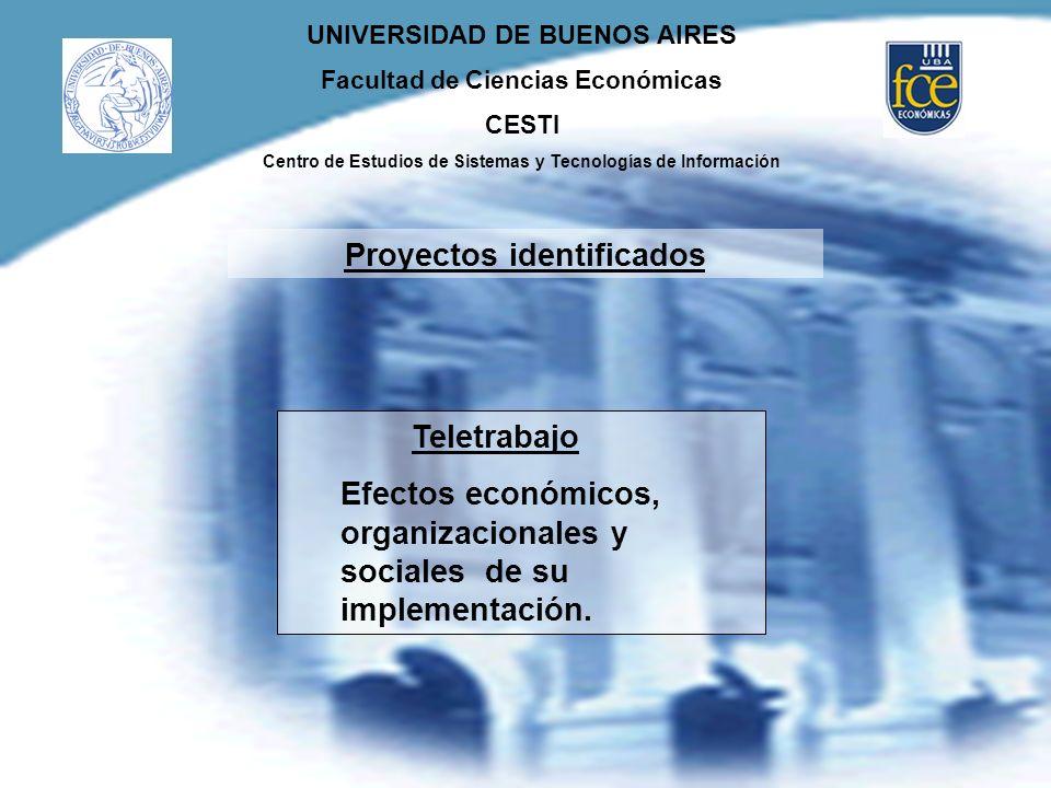 UNIVERSIDAD DE BUENOS AIRES Facultad de Ciencias Económicas CESTI Centro de Estudios de Sistemas y Tecnologías de Información Teletrabajo Efectos econ