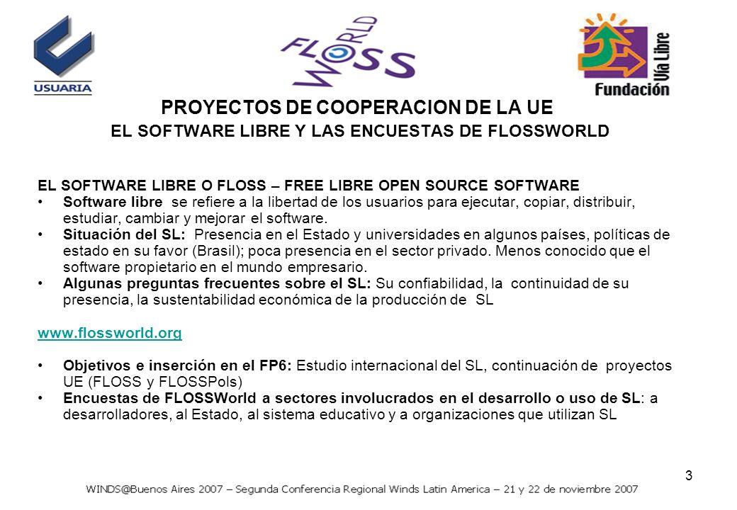 4 Objetivo Evaluar cuali-cuantitativamente la situación del software libre en países en desarrollo extra UE.